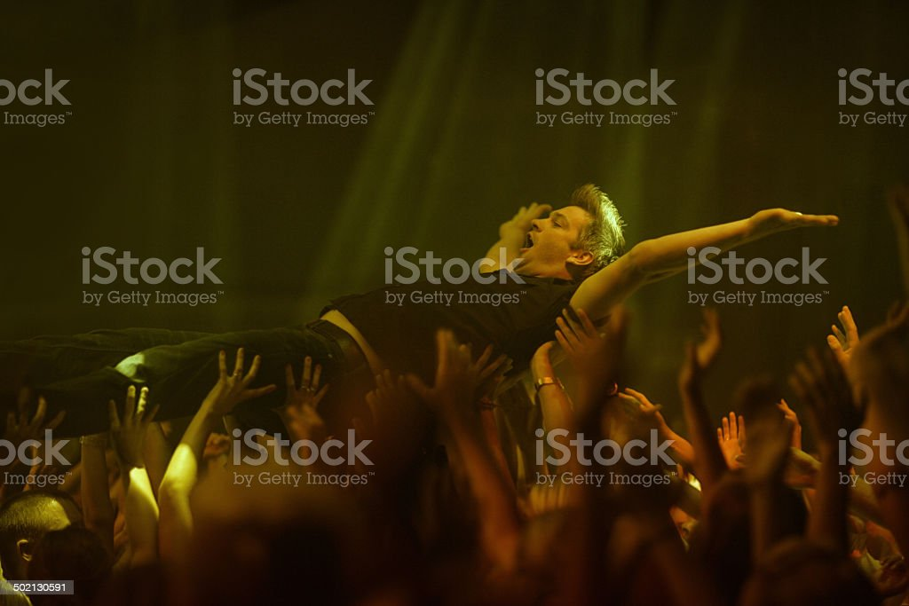 Freedom in the crowd stock photo