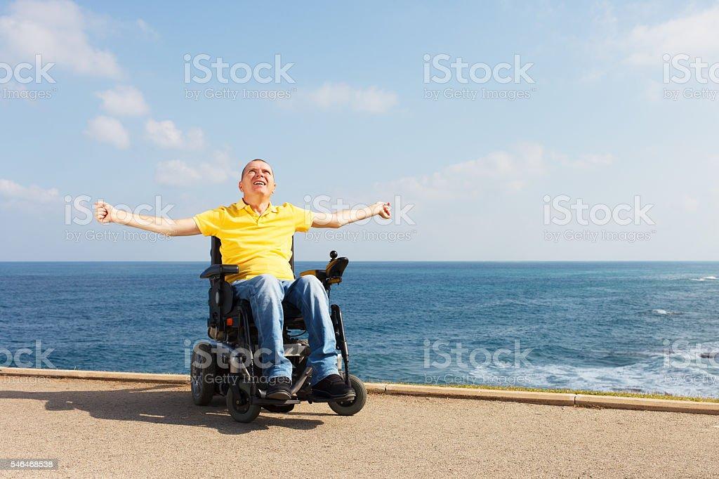 Freedom in wheelchair - foto de stock