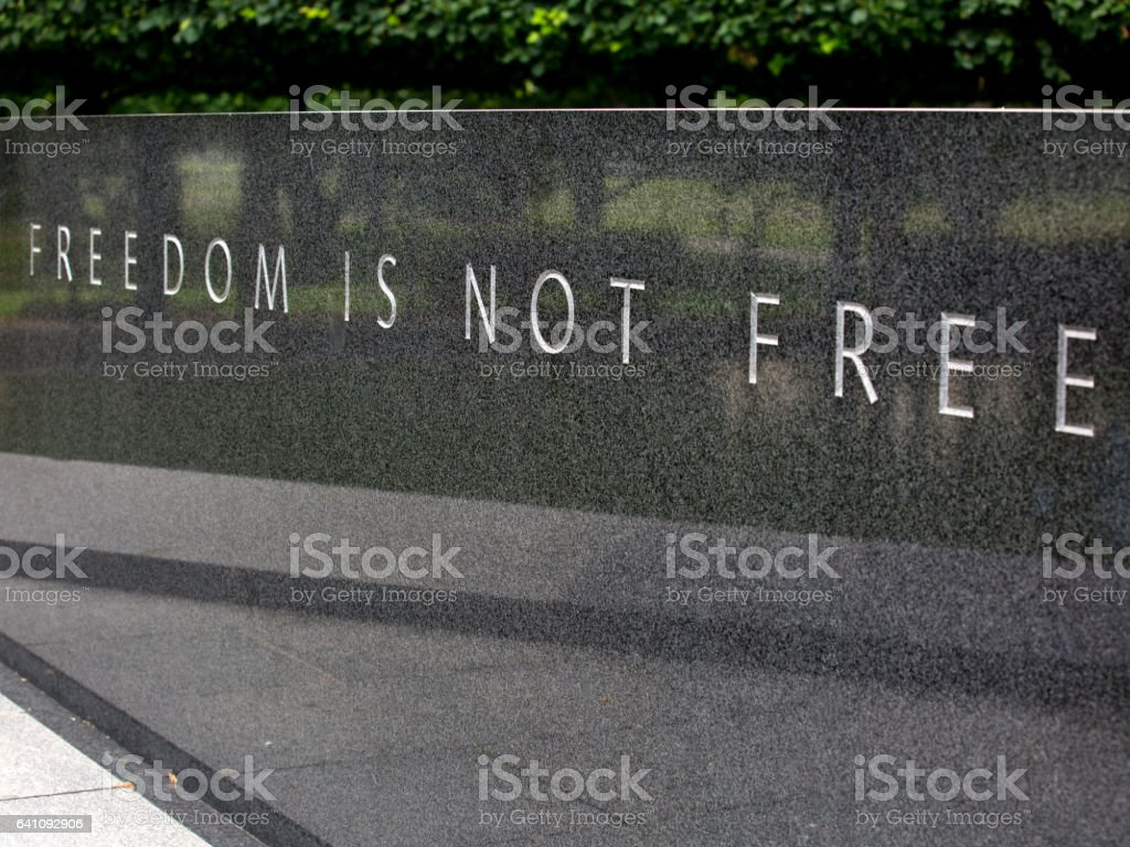 Freedom is not free stock photo