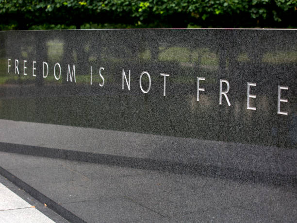 freedom is not free - war memorial stock pictures, royalty-free photos & images