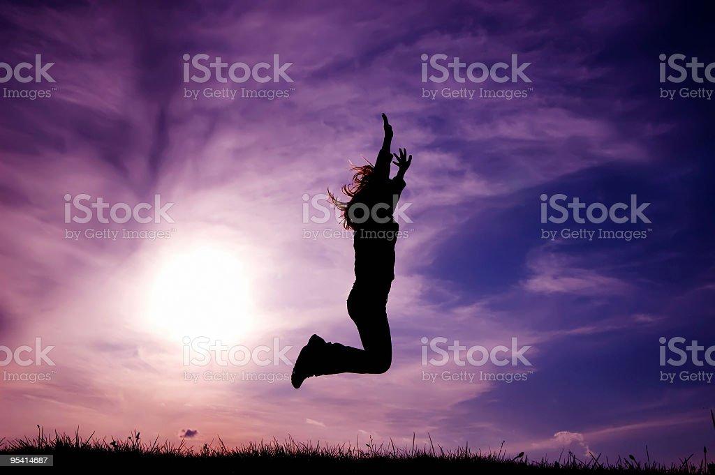 Freiheit-jumping Lizenzfreies stock-foto