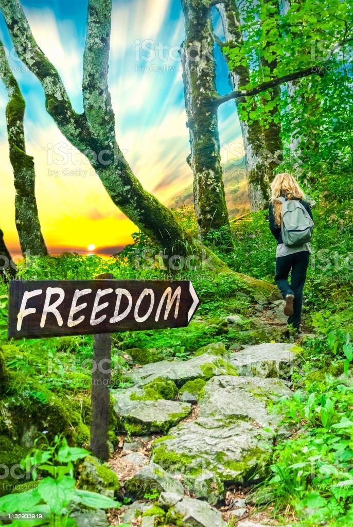 Foto De A Frase Motivacional Da Liberdade Na Madeira Canta