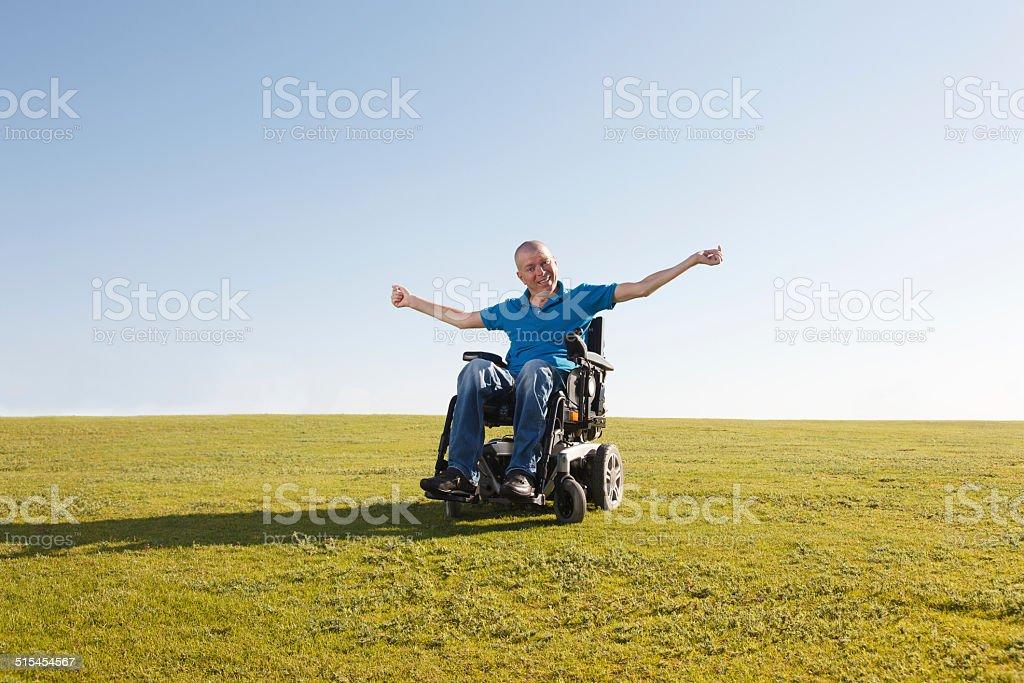 Freiheit der Behinderten Mann. – Foto