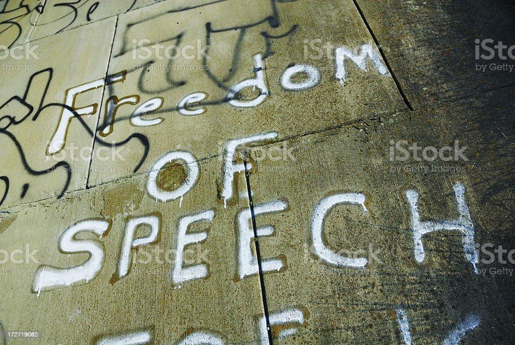 Freedom of Speech Graffiti stock photo