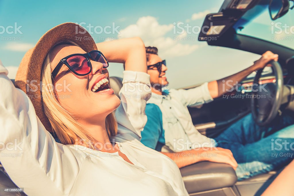 Freedom of the open road. stock photo