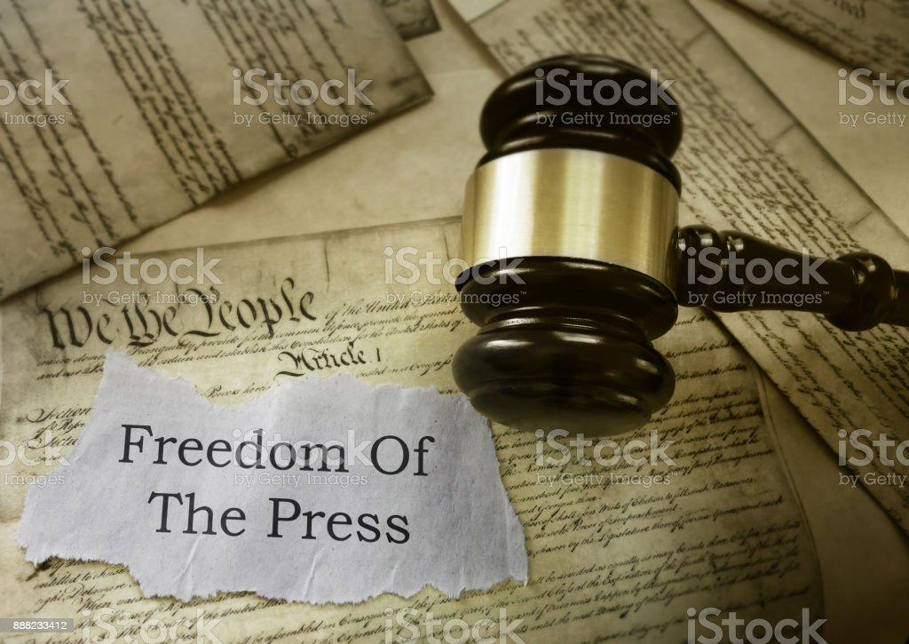 Freedom of the Press stock photo