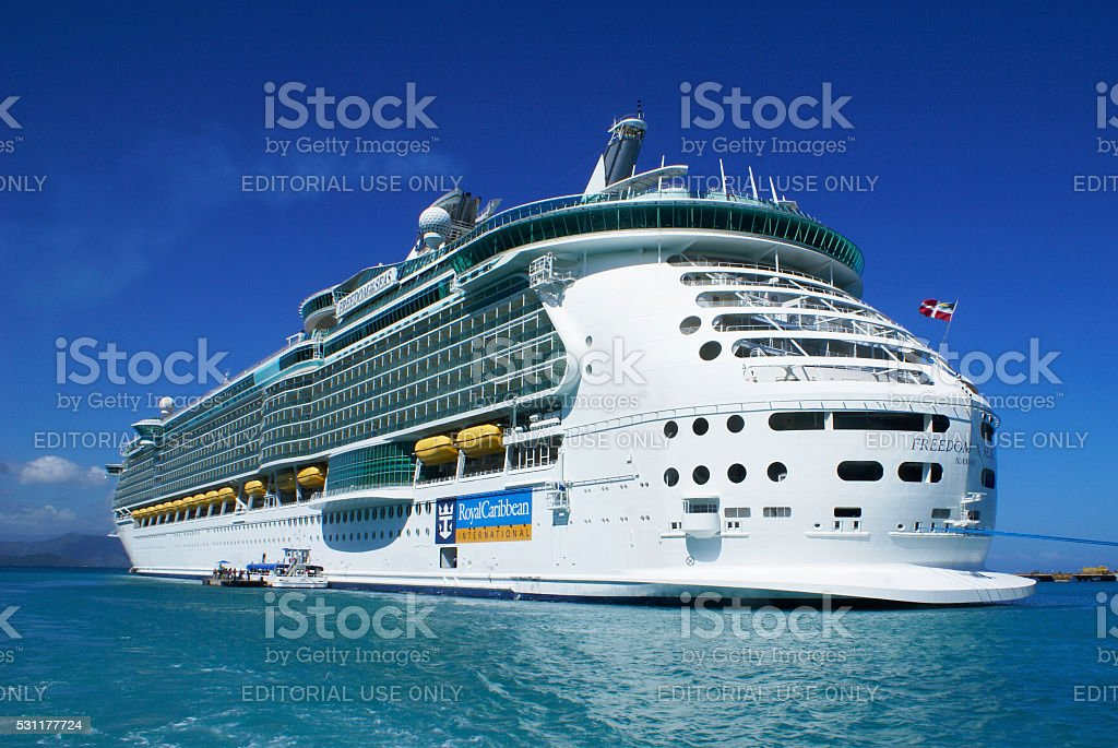 Freedom of the seas in Labadee stock photo