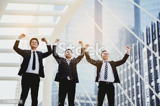 951514270 istock photo Freedom of work, brainstorming sessions and agreements of multi-ethnic businessmen demonstrating unity in successful work and achieving goals. Teamwork requires clear division of work achieve  goal. 1170209275