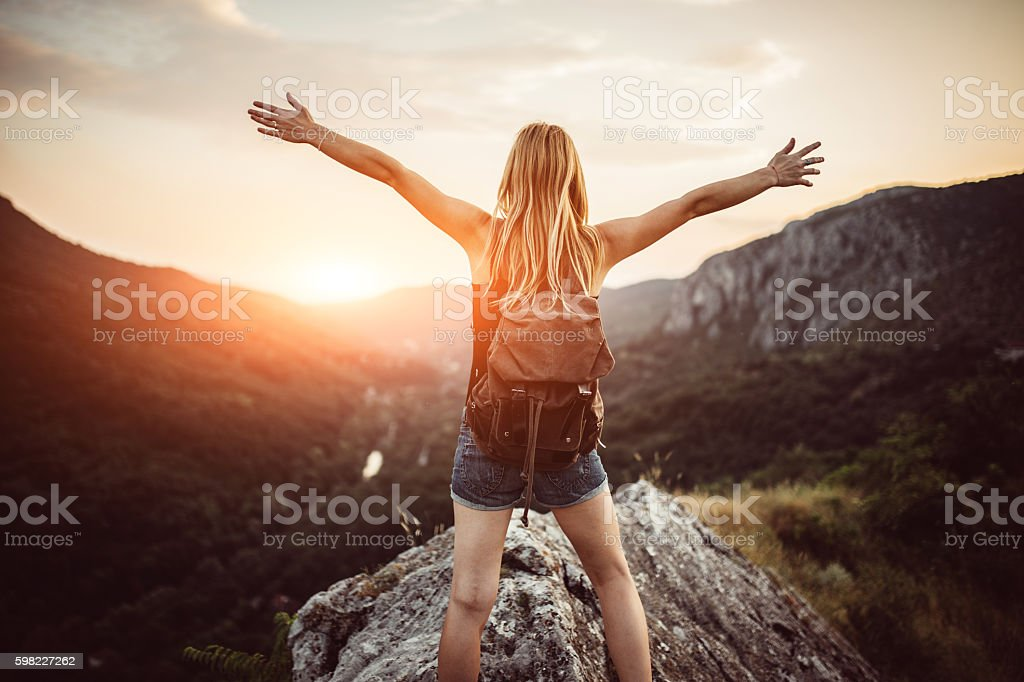 Freedom on mountain foto royalty-free