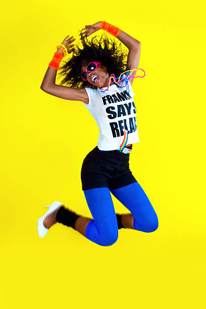 freedom - african youth jumping for joy stock photos and pictures