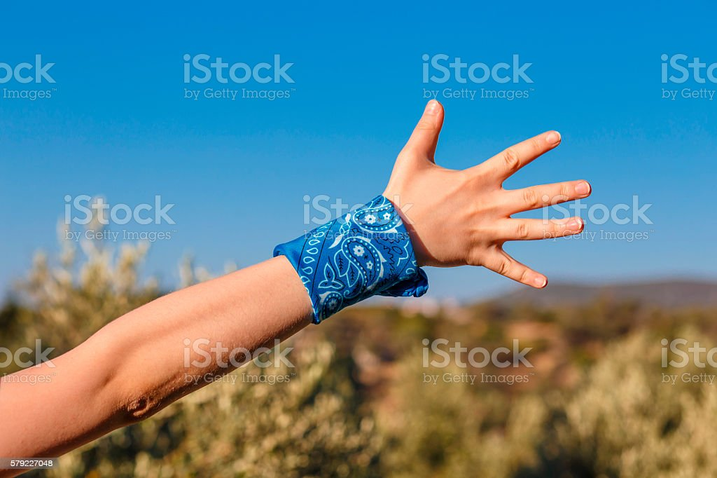freedom (bunch of fives) stock photo