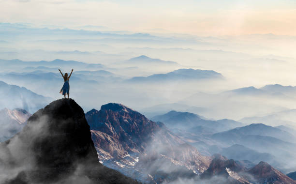 freedom - mountain peak stock pictures, royalty-free photos & images