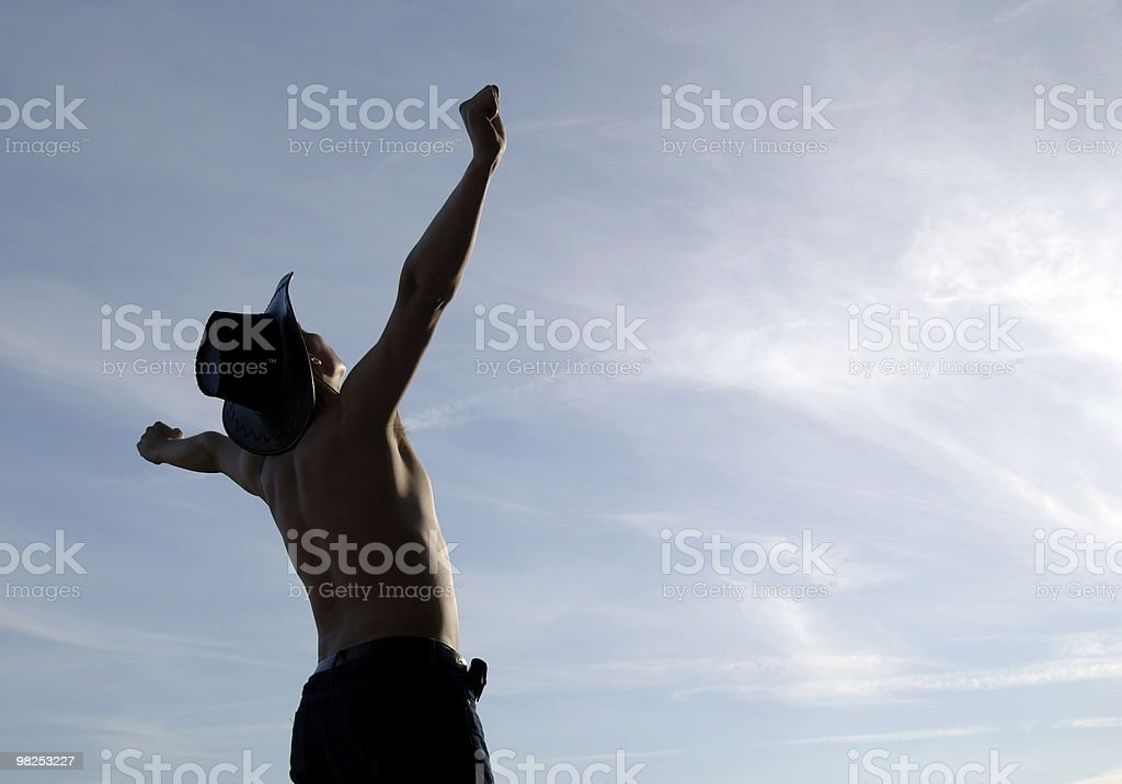 freedom pose royalty-free stock photo