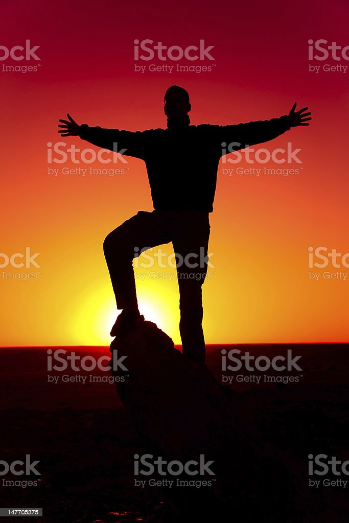 Freedom - Reaching Arms royalty-free stock photo