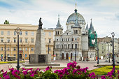 Freedom Square in city of Lodz, Poland