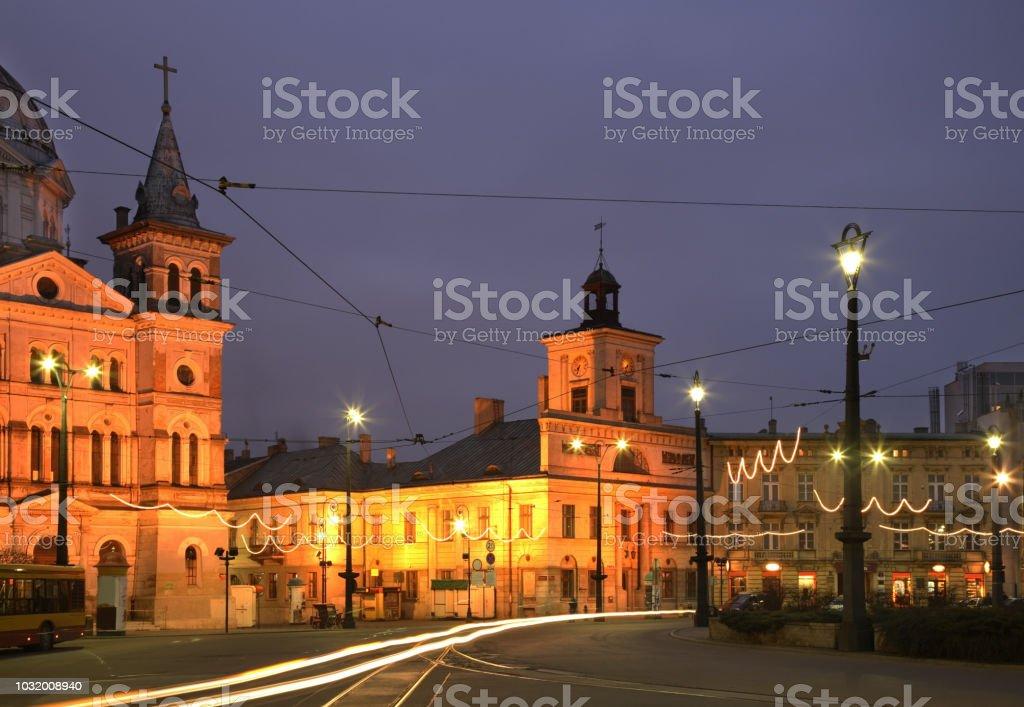 Freedom Square (Plac Wolnosci) in Lodz. Poland