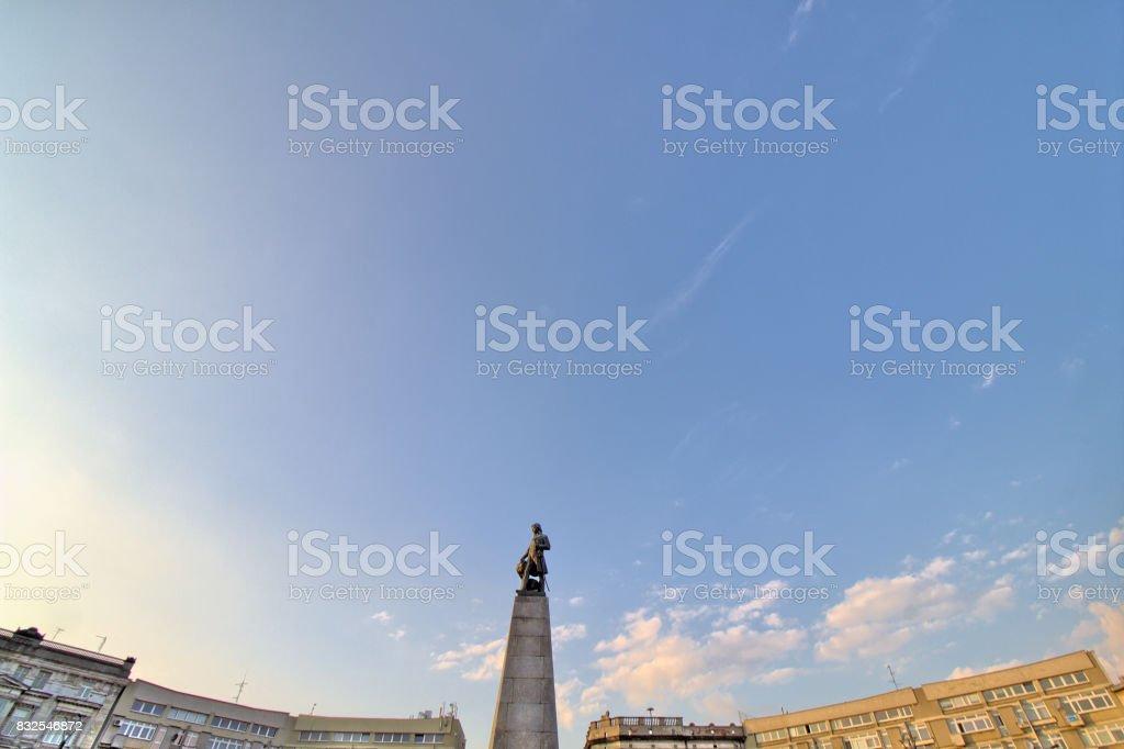 Freedom Square (Plac Wolności) in the city of Lodz (Łódź), Poland stock photo