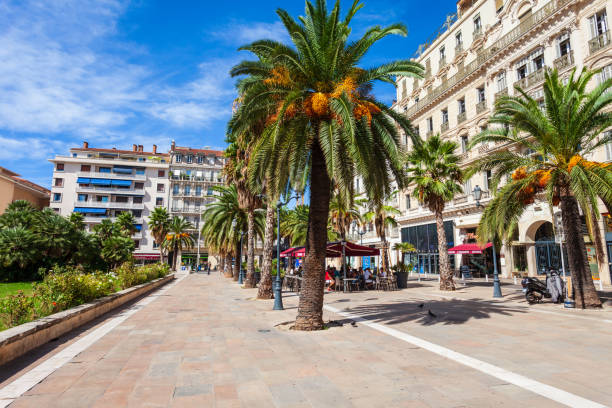 Freedom Square in Toulon, France stock photo