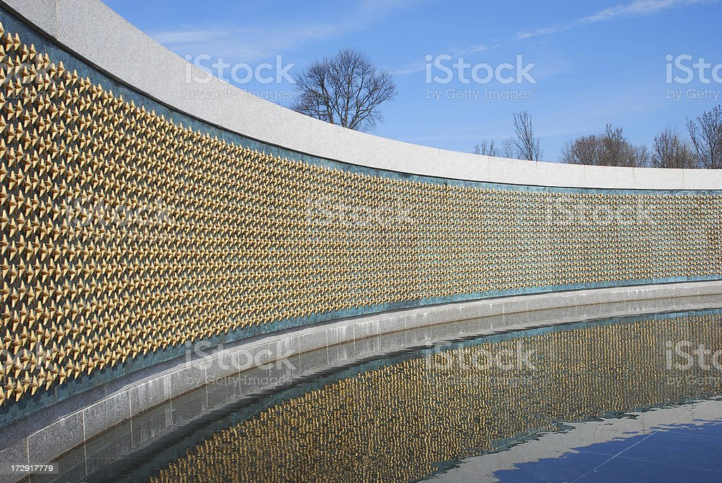 Freedom Stars, World War Two Memorial stock photo
