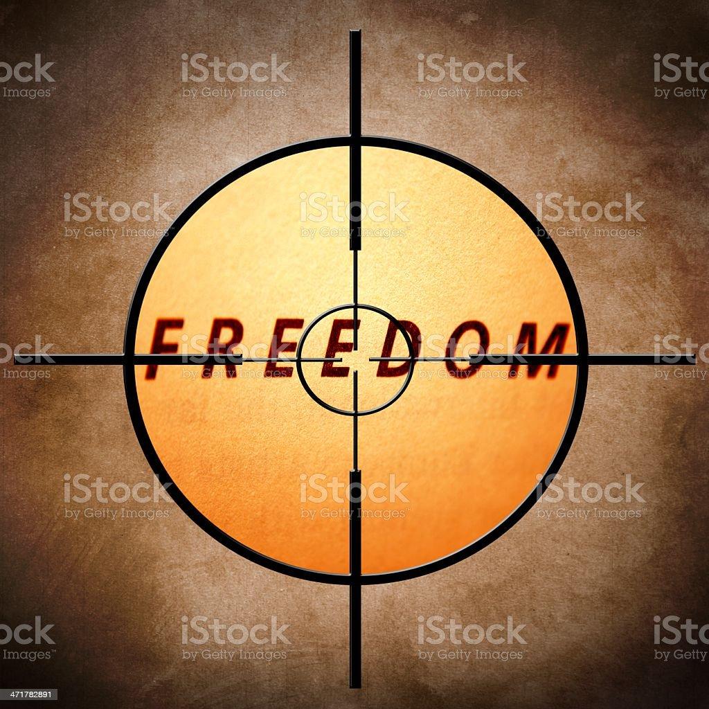 Freedom target royalty-free stock photo