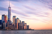 istock Freedom Tower and Lower Manhattan in the evening 669621266
