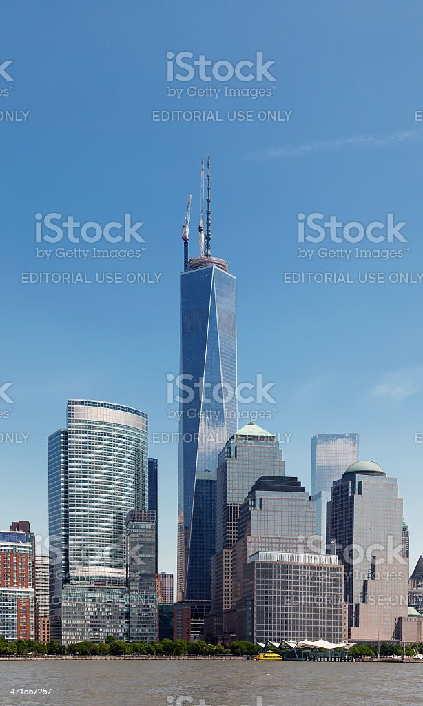 NYC Freedom Tower and the World Financial Center stock photo