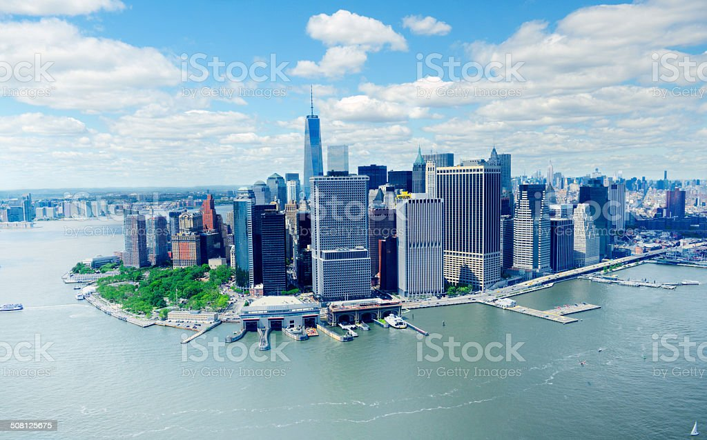 Freedom Tower, Downtown NY. Aerial view. royalty-free stock photo