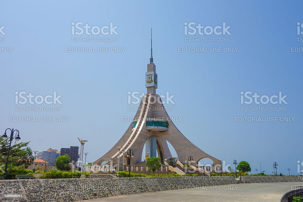 Freedom Tower in Bata stock photo