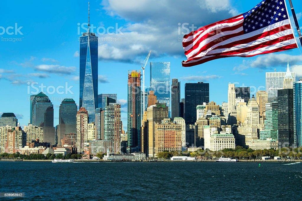 Freedom Tower In Den Wolken Manhattan New York Stockfoto Und Mehr