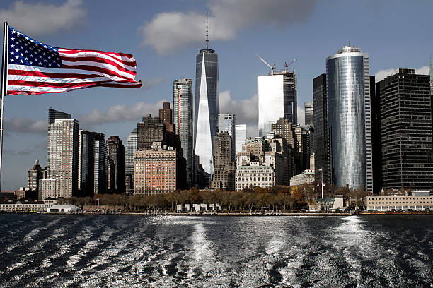 Freedom Tower, Manhattan stock photo