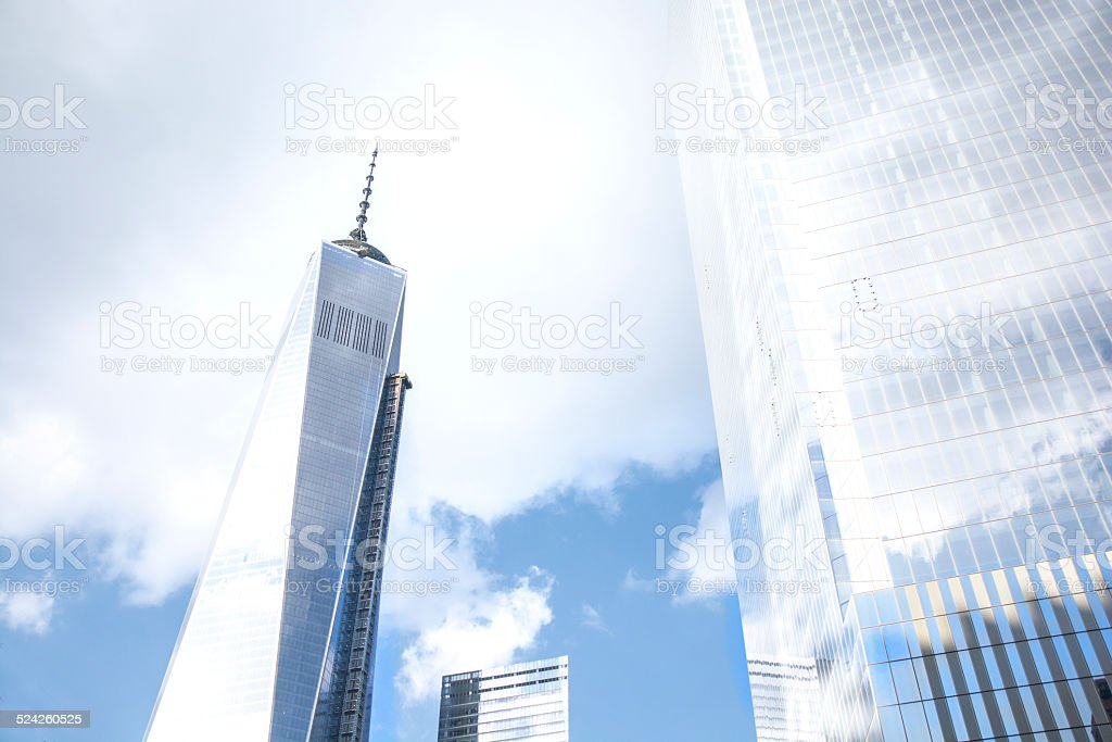 Freedom Tower New York City Low Angle View Cloudscape
