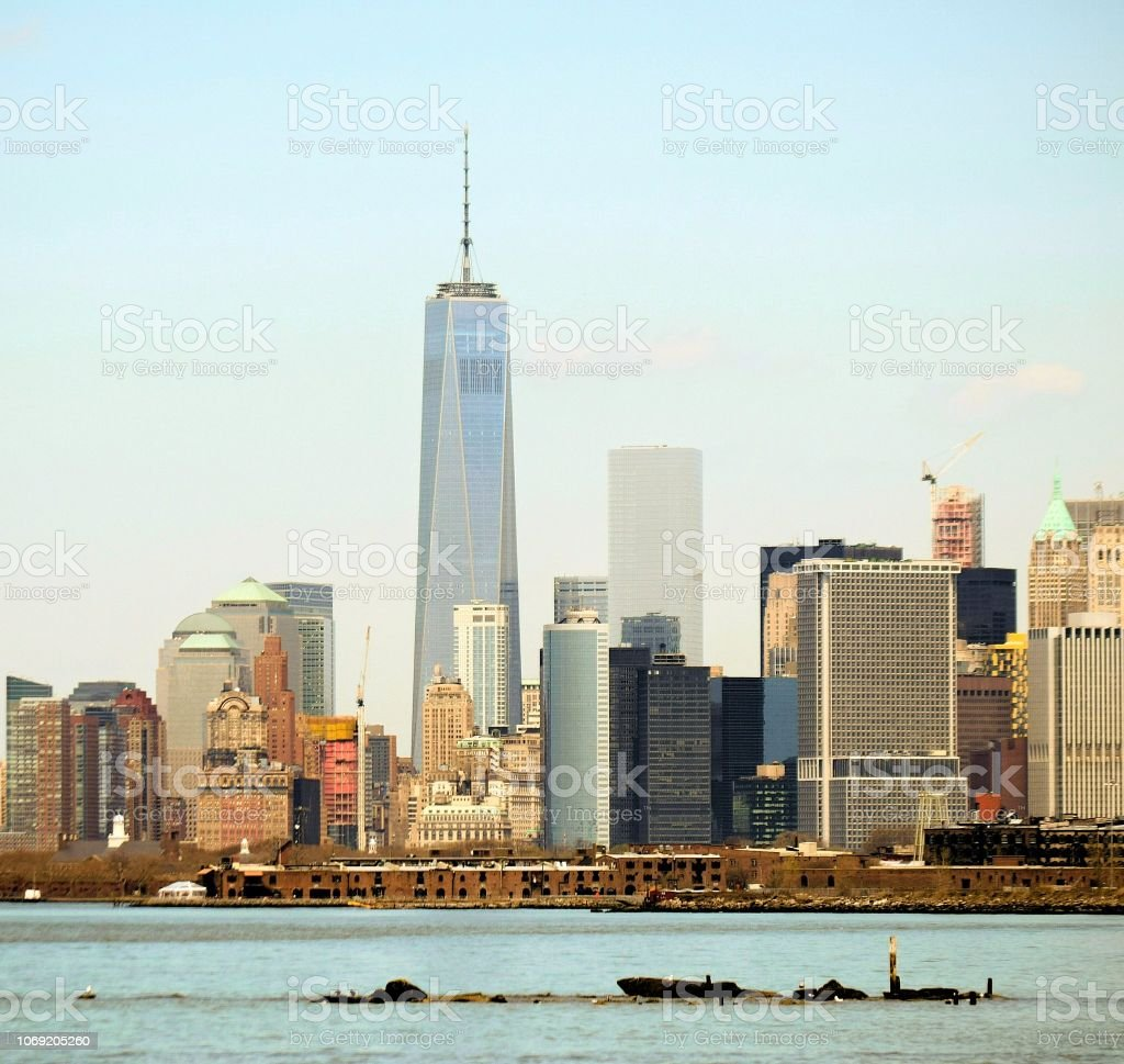 Freedom Tower on a Sunny Day stock photo