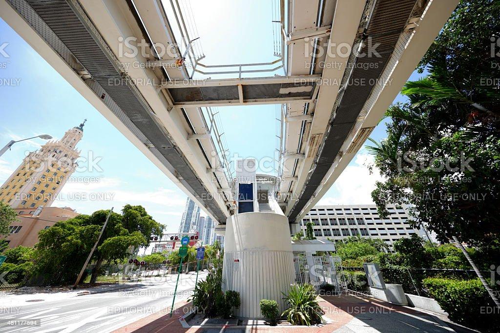 Freedom Tower Station Metrorail stock photo