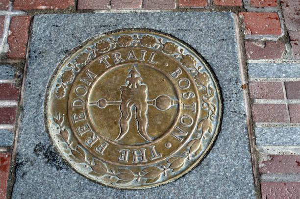 Freedom Trail Siegel oder Marker Boston MA – Foto