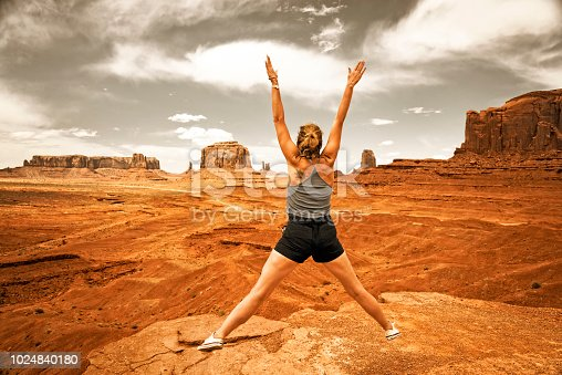 Freedom woman at Monument Valley