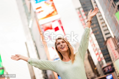 654490824 istock photo Freedom woman on times square - NYC 471640135
