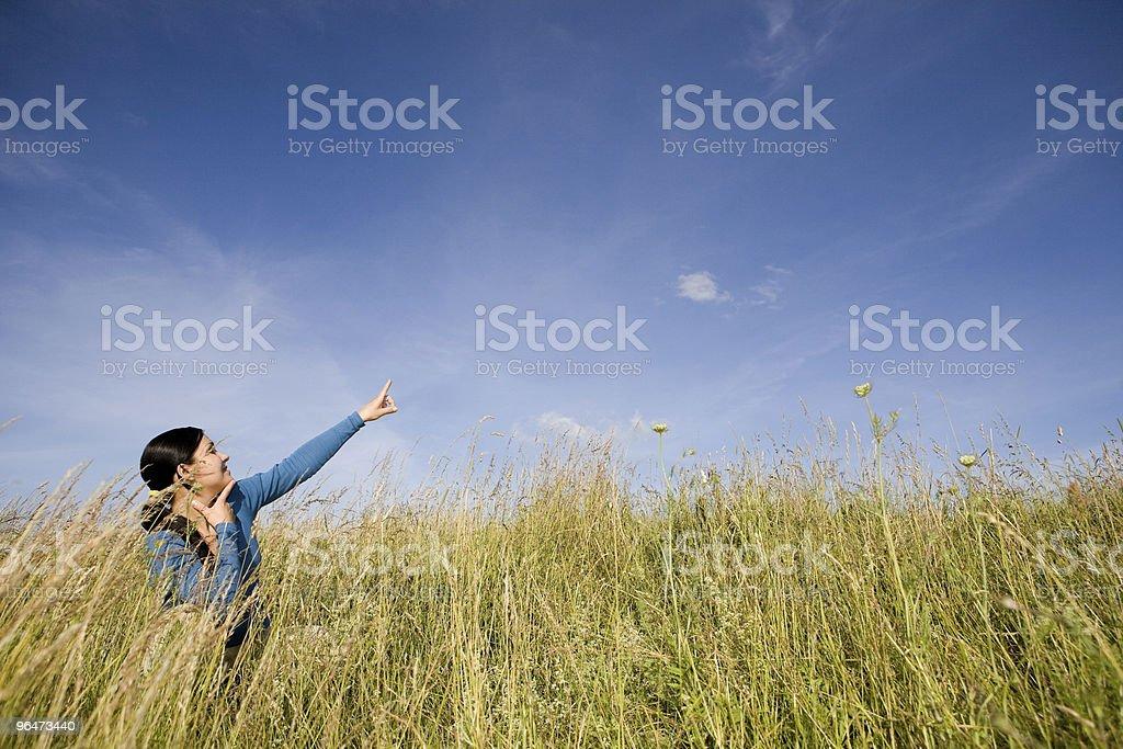 freedom woman royalty-free stock photo