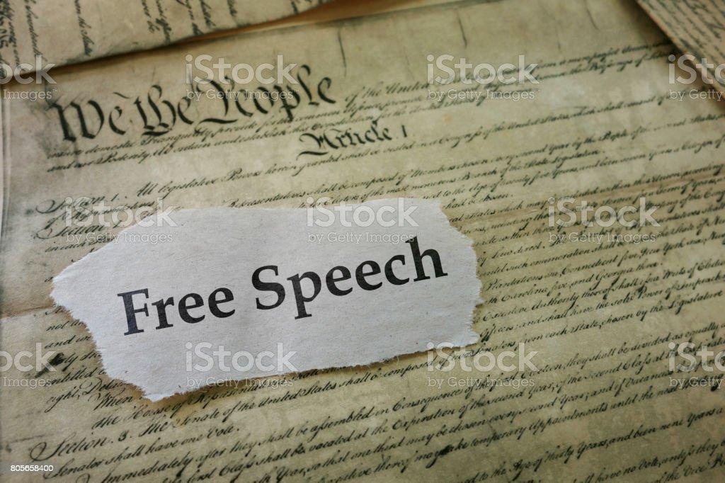 Freedon of Speech stock photo
