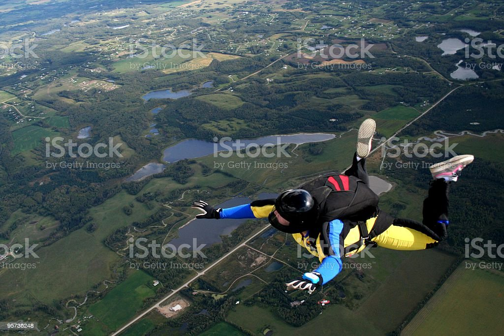 Freefall - skydive royalty-free stock photo