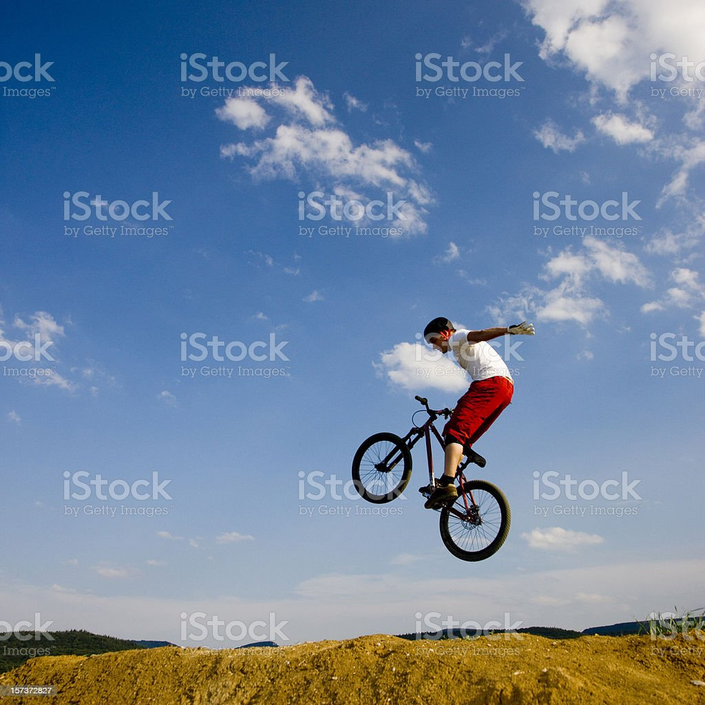 Freehand Dirt Jumping stock photo