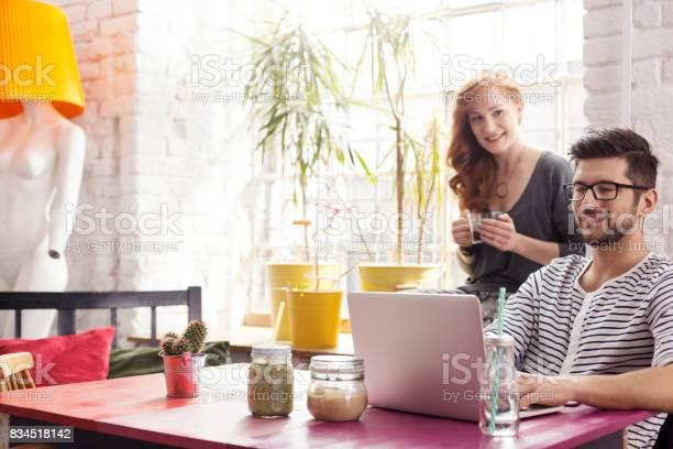 Freelance graphic designers working in cafe picture id834518142?b=1&k=6&m=834518142&s=612x612&h=8kumoyf514lbli7 blbejydpsqqrvxoebl72cxwkib4=