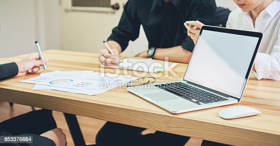 istock Freelance is brainstorming on work with computer accessories and smartphones. To work faster than ever 853376684