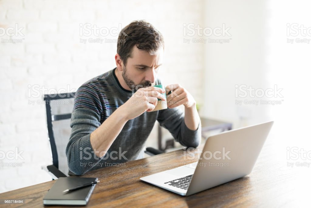 Freelance journalist working from home - Royalty-free 30-39 Years Stock Photo