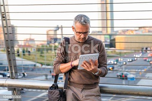Freelance man working outdoor
