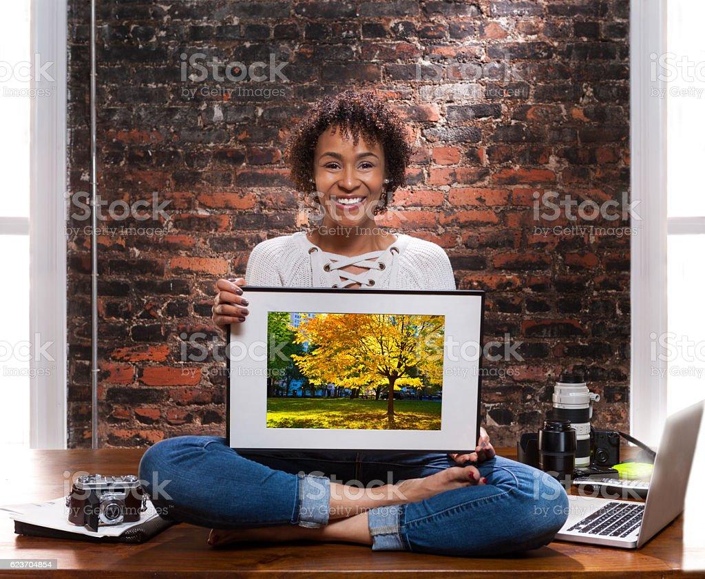 freelance photographer portrait stock photo