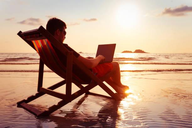 Freelancer business man working on computer in beach office picture id1214869970?b=1&k=6&m=1214869970&s=612x612&w=0&h=untyq5edvlpqjpfkfgo3bpzc9w6vs45gtbdwmrkmogo=