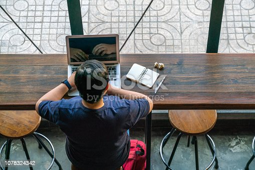 1151920695 istock photo Freelancer working on laptop in the morning 1078324342