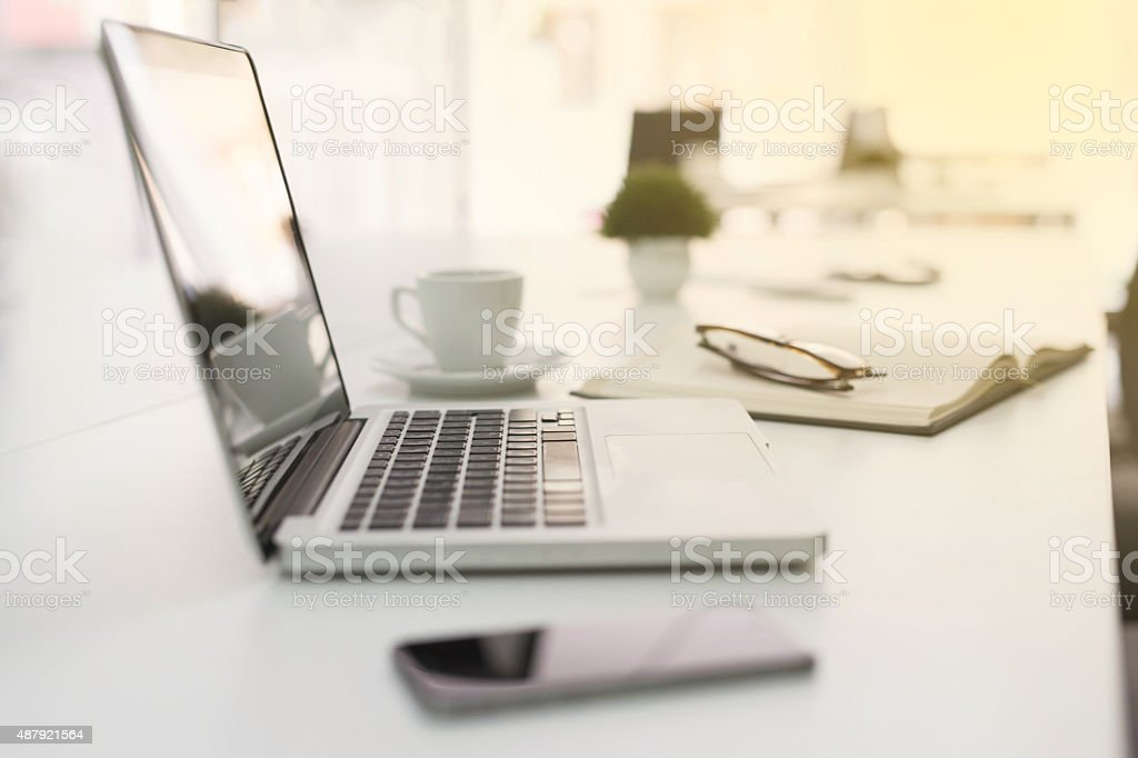Freelancer Workplace stock photo