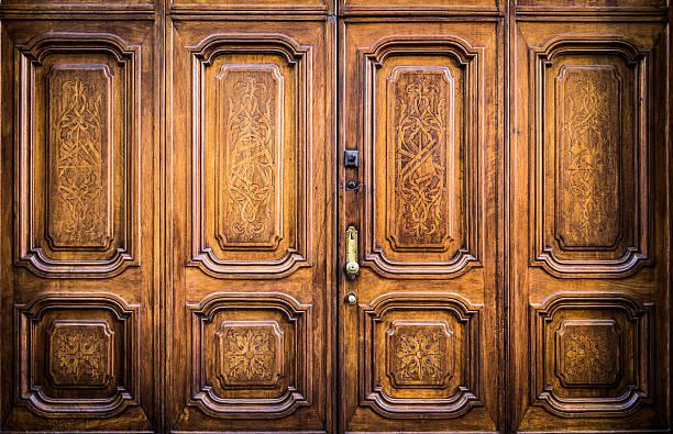 Freemasonry door entrance stock photo