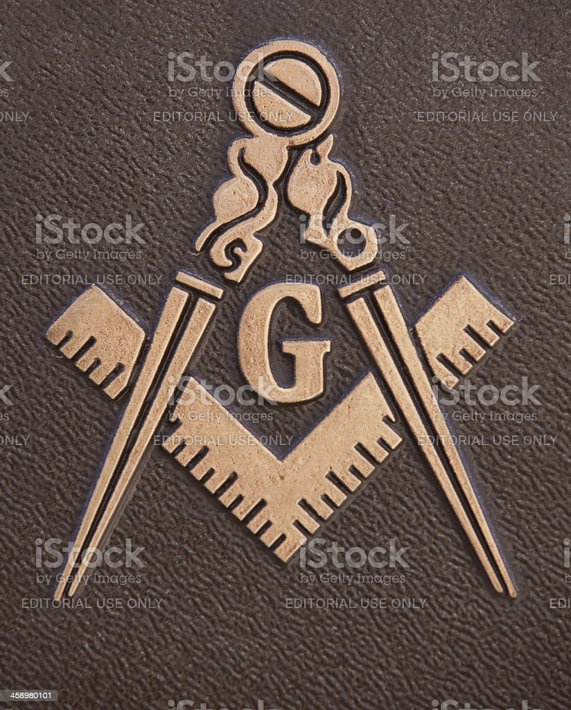 Freemasonry Square and Compasses royalty-free stock photo